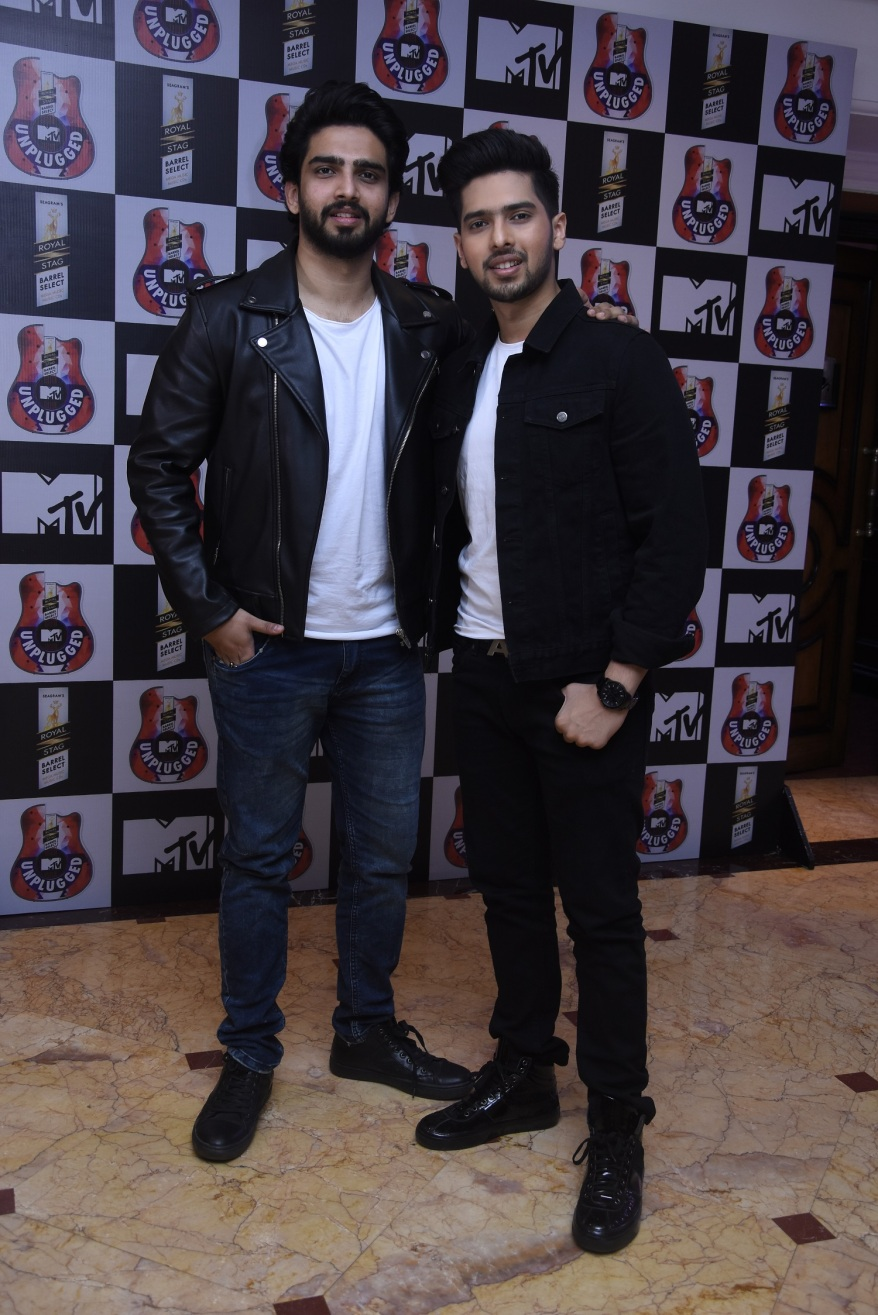 Armaan Mallik and Amaal Mallik at the launch of Royal Stag Bareel Select MTV Unplugged