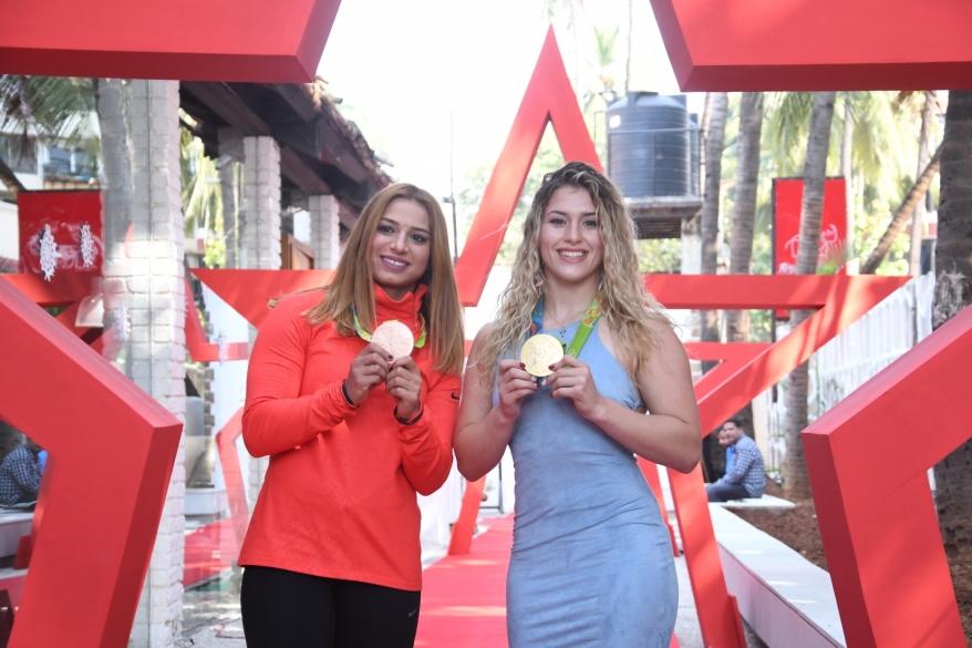 7. Marwa Amri, with Helen Maroulis DSC_8577