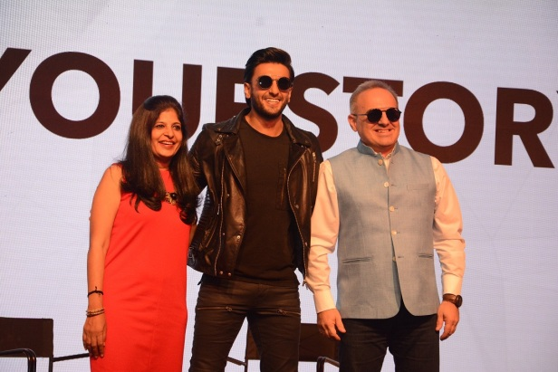 Ranveer Singh on stage as Carrera's Driveyourstory short film premieres and Mr. Kyriakos Kofinas Managing Director IMEA (India Middle East Africa) & APAC (Asia Pacific).jpg